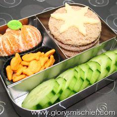 citrus & snowflake bento lunch