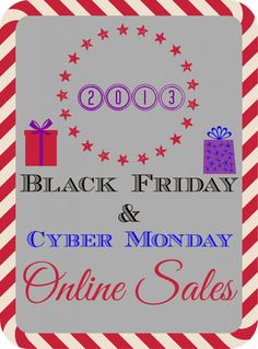 *HUGE* Round-Up of Online Black Friday & Cyber Monday 2013 Deals!