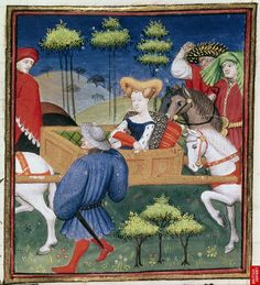 1410 - The Book of the Queen - The Duke of True Love - by Master of the Cite Des Dames