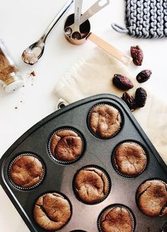 Need a recipe for (really!) healthy muffins? No grains, no sugar, no dairy, no junk --- simply blend, pour and bake. Happy snacking!