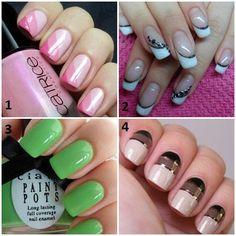 Wish I had long nails to do this! Great Nails, Cool Nail Art, Love Nails, Fun Nails, Amazing Nails, Types Of Nails Shapes, Different Types Of Nails, Nail Polish Art, Best Nail Art Designs