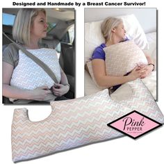 Mastectomy Pillow Breast Cancer Surgery to heal securely and comfortably. Perfect for the ride home from the hospital. Perfect for the entire healing process!