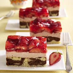 Erdbeer-Mascarpone-Schnitten vom Blech Rezept