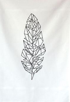 Tattoo – Idea – Draw – Illustration – Geometric – Feather – Line – Shape