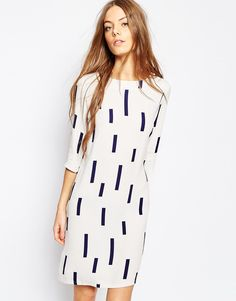 Shop Selected Hevia Dress in Print at ASOS. Casual Day Dresses, Stylish Dresses, Cute Dresses, Going Out Dresses, Dresses For Work, Long Sleeve Crop Top, Short Sleeve Dresses, New Look Shorts, Cropped Wide Leg Trousers