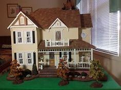 LAST CHANCE - Furnished Farm Doll House w/Miniatures 1:12 Scale - OBO House Only