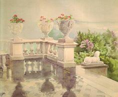"Watercolour painted by the Grand Duchess Olga Alexandrovna Romanova of Russia. ""AL"""