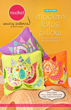 Modern Lotus Pillow pattern.  BTW, if you haven't been to Hawthorne Threads, it's a GREAT fabric website.