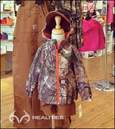Carhartt Kids Realtree Camo Packable Hooded Rain Jacket - Lightweight, durable, and not afraid of a little rain and wind, this jacket is easy to transport.