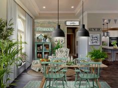 Neybers - An Interior Design Playground Country Dining Rooms, Kiss The Cook, Farmhouse Interior, Chair And Ottoman, Wood Wall, Playground, My Design, The Incredibles, Table Decorations
