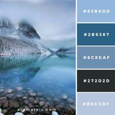 Bedroom Colour Palette, Blue Colour Palette, Bedroom Color Schemes, Colour Schemes, Color Combos, Palettes Color, Ice Blue Color, Snow Theme, Web Colors