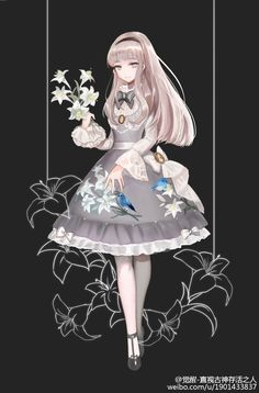 --> ✿~~lily and redbreast~~✿ theme Lolita dress design, do you want it to be made into real dress? --> Designer: weibo•com/u/1901433837