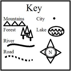 Classroom Freebies Too: Make a Map of the Setting -- a Printable Map Key