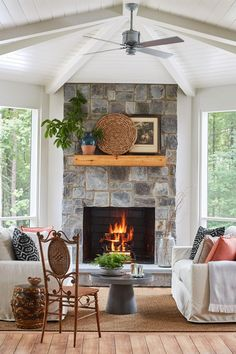Tour Southern Living's 2020 Idea House! We built a spectacular escape that shows off Asheville, North Carolina's down-to-earth style. Infused with soulful antiques, earthy color palettes, and cozy gathering spaces, this laid-back escape is perfect for year-round mountain living and getting together with family and friends. Step inside this year's home for inspiration. #ideahouse2020 #cozyhomedecor #homedecorideas #mountaincottage #farmhouse #houseplans #southernliving