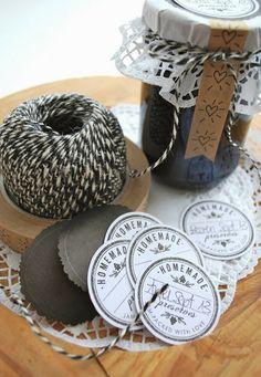 Ber ideen zu marmeladenglas etiketten auf for Marmeladenglas deko