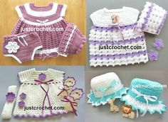 Free baby girl crochet patterns…                                                                                                                                                                                 More