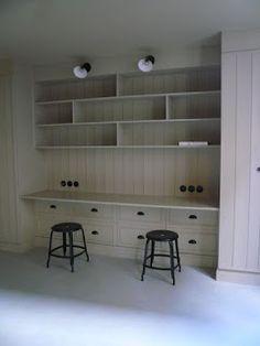 Desk Space, Kid Spaces, Bookshelves, Shelving, Storage, Kid Stuff, Retail, Decorating, Home Decor