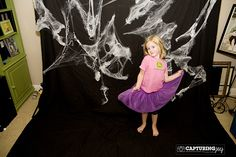 photo backdrop set up couples halloween party