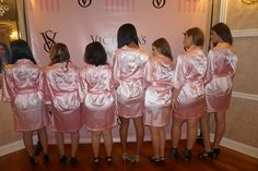 Victoria's Secret Sweet 16 themed picture of dais in front of Step & Repeat with personalized robes. Sweet 16, Repeat, Sequin Skirt, Victoria's Secret, Sequins, Skirts, Fashion, Gowns, Moda