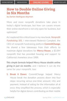 Eliminating unnecessary fields in donation forms increases conversion rates A LOT. Just ask @MercyHouseLC #fundraising #digitalcontent