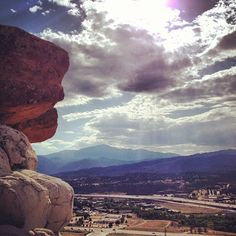 view of Pikes Peak from Pulpit Rock in Colorado Springs, CO; Photo from the Instacanvas gallery for guitarist4x.