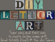 The Ivy Twines: DIY Letter Art {tutorial}