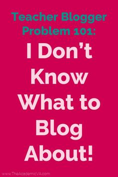 Many teacher bloggers (or teacherpreneurs) struggle to come up with new blog post ideas. This post will change that! Use the 13 different ideas here to curate a large list of new blog posts. You'll have a list of blog post ideas that you can use to write