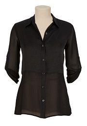 Button Up Sheer Shirt