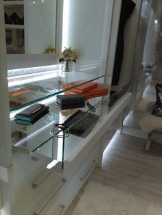Mirrored Glass Pull Out Drawer, This Will Make Any Ordinary Closet Feel  Extraordinary. California ClosetsDrawer