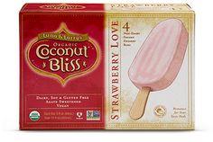 Luna & Larry's Coconut Bliss Strawberry Love bars non-dairy ice cream