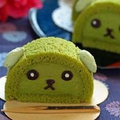 Green tea cakes can bring Japanese animation to life to the delight of every fan.