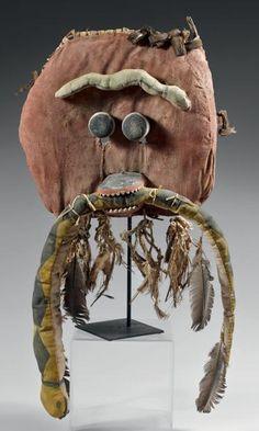 Superbe masque de kachina Saviki Hopi, circa 1920