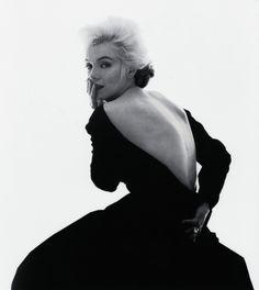 Marilyn Monroe wearing a Dior dress,1962. Photo: Bert Stern.