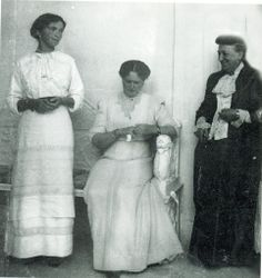 Grand Duchess Olga, Empress Alexandra, and Mrs. Franklin. Olga's nanny.