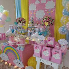 #festachuvadeamor #festademenina #Evellynfez2 Obrigada, primeiramente a Deus,e segundo a mamãe Laura ,pela preferência e obrigada a minha equipe,pela força. Decoração e Personalizados (Fal & Cia). Bolo e Doces temáticos (Márcia). Unicorn Themed Birthday, Rainbow Birthday Party, 2nd Birthday Parties, Unicorn Party, Girl Birthday, Cloud Party, Baby Shower Parties, Birthday Decorations, First Birthdays