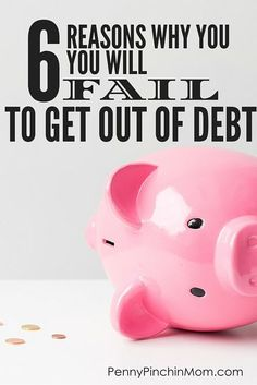 The one post that will help you figure out WHAT you are doing wrong and why you will fail at getting out of debt. Learn what is wrong with your debt plan and make changes so you can eliminate debt once and for all! Get Out Of Debt, Budgeting Money, Debt Payoff, Debt Free, Saving Money, Saving Tips, Saving Ideas, Money Budget, Money Tips