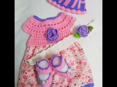 Beautiful crochet baby girl set-Vestido tejido a ganchillo-uncinetto est...