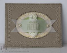 Stampin' UP! by First Hand Emotion: IN{K}SPIRE_me Challenge #087, Oh Hello