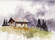 misty watercolour paintings - Google Search