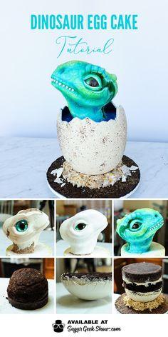 dinosaur egg cake
