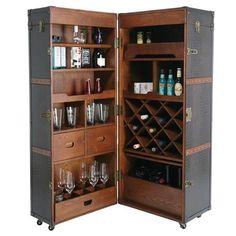 Colonial Wardrobe Trunk Bar