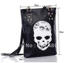 Wholesale Leisure Casual hobo Skull Heads shoulder bag sling  Handbag  Designer Lady girl's popular Fashion $5.33