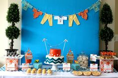 chevron print baby shower