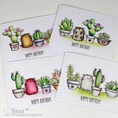 With heart and scissors: cats & cacti – Cactus Cactus Painting, Cactus Art, Cactus Decor, Cactus Plants, Cute Flower Drawing, Honey Bee Stamps, Karten Diy, Mft Stamps, Cat Cards