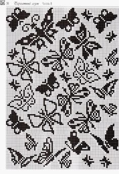 Free filet crochet cross stitch charts 08 From Free Filet Crochet Cross Stitch Charts Butterfly Cross Stitch, Crochet Butterfly, Cross Stitch Rose, Cross Stitch Samplers, Cross Stitch Flowers, Cross Stitch Charts, Cross Stitching, Filet Crochet Charts, Crochet Cross