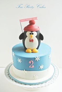 Party Penguin Cake - by Tea Party Cakes @ CakesDecor.com - cake decorating website