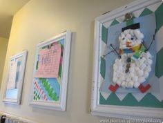 Good idea to display kids art