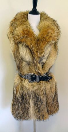 New Handmade Real Coyote Fox Fur Vest Jacket from by DakinisChoice, $269.00