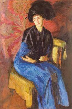 Wojciech Weiss - Aneri w wieczorowym stroju, 1908