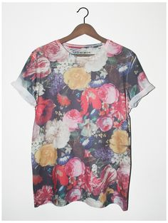 #Painted Floral Tee  #Fashion #New #Nice #WomanT-Shirts #2dayslook  www.2dayslook.com